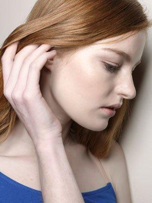 air-dry hair