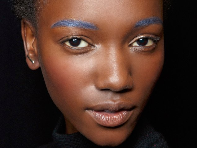 Blue eyebrows Badgley Mischka Spring 2015