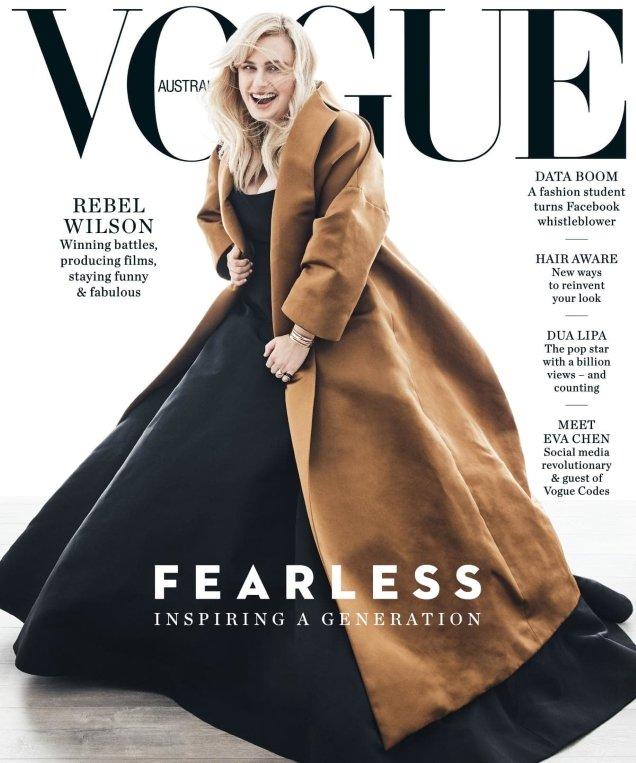 Vogue Australia June 2018 : Rebel Wilson by Nicole Bentley