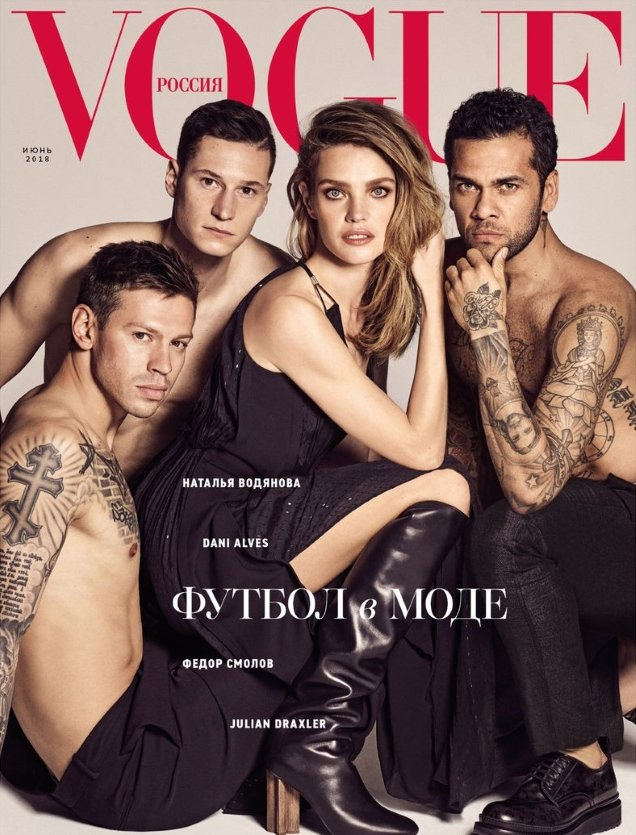 Vogue Russia June 2018 : Natalia Vodianova, Fedor, Julian & Danial by Luigi & Iango