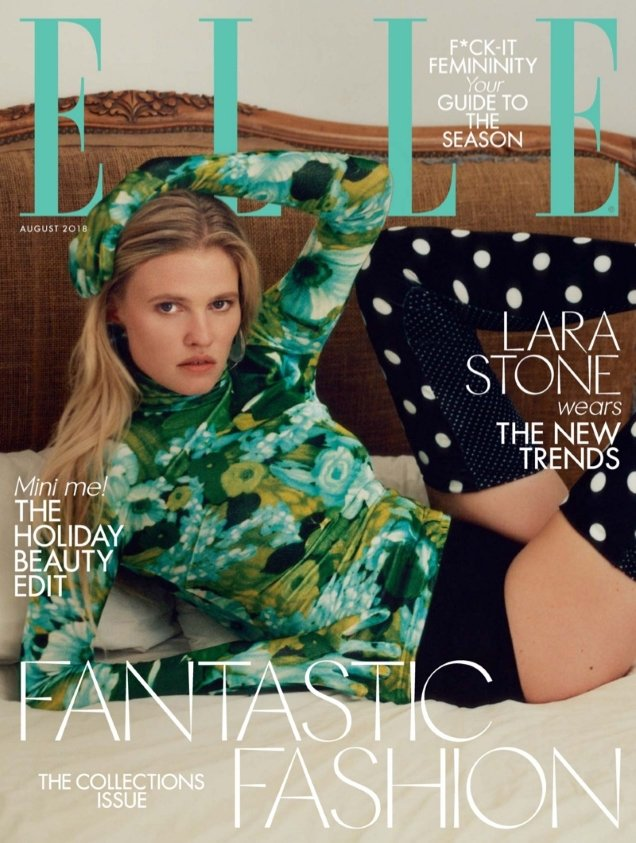 UK Elle August 2018 : Lara Stone by Alexander Saladrigas