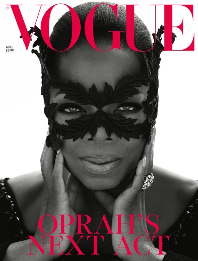 UK Vogue August 2018 : Oprah by Mert Alas & Marcus Piggott