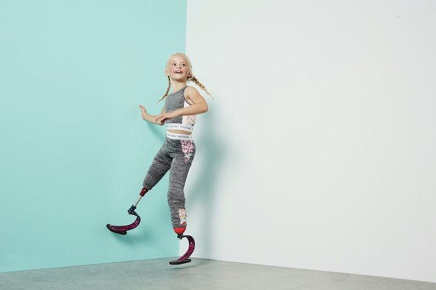 8-year-old amputee model Daisy-May Demetre for River Island