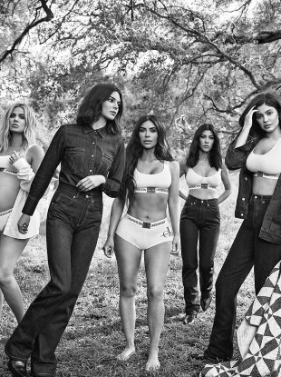 Calvin Klein Underwear F/W 2018.19 : The Kardashian/Jenner Sisters by Willy Vanderperre