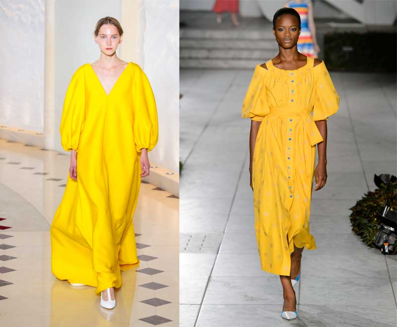Gen Z yellow on the Emilia Wickstead and Carolina Herrera Spring 2018 runways