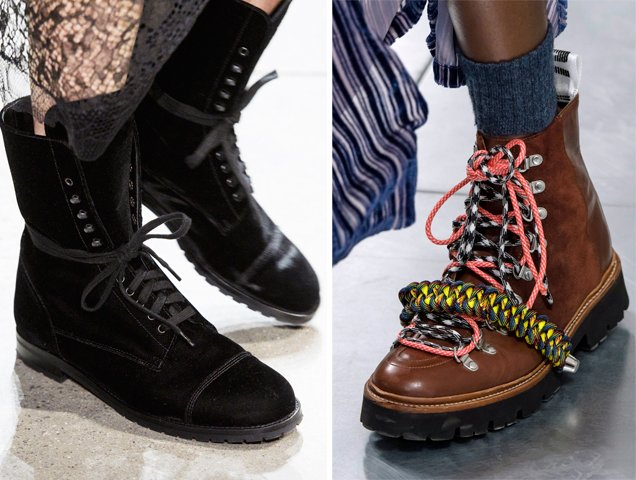 Hiking boots on the Jonathan Simkhai and House of Holland Fall 2018 runways