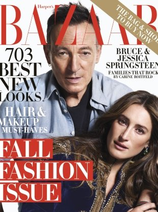 US Harper's Bazaar September 2018 : Bruce & Jessica Springsteen by Mario Sorrenti