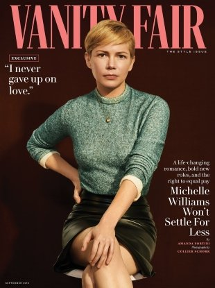 Vanity Fair September 2018 : Michelle Williams by Collier Schorr