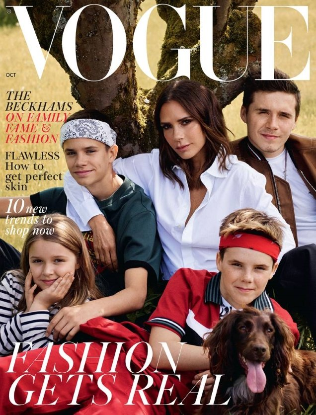 UK Vogue October 2018 : The Beckhams by Mikael Jansson