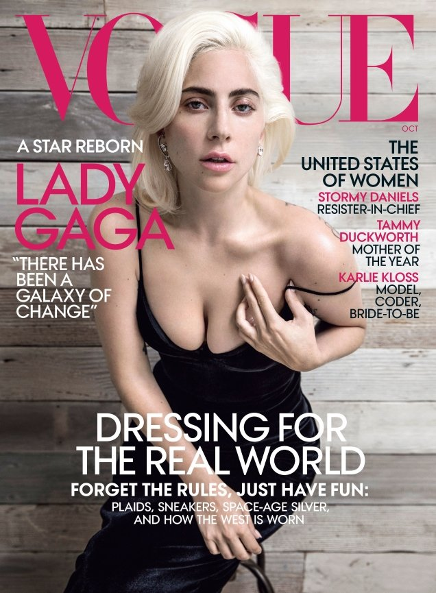US Vogue October 2018 : Lady Gaga by Inez van Lamsweerde & Vinoodh Matadin
