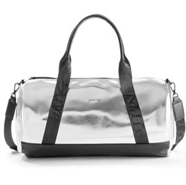 Kendall Kylie For Women S Silver Metallic Duffle Bag 32 At