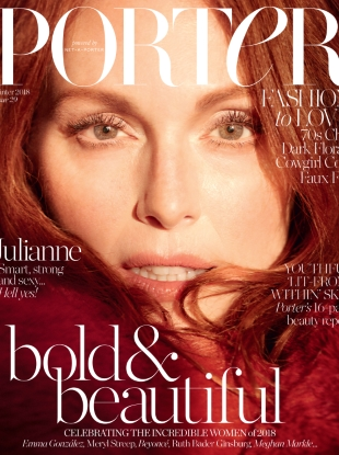 Porter #29 Winter 2018 : Julianne Moore by Camilla Akrans