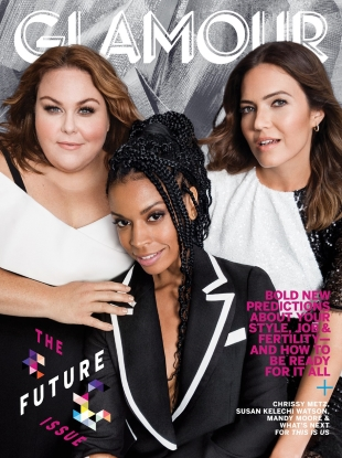 US Glamour November 2018 : Chrissy Metz, Mandy Moore & Susan Kelechi Watson by Victor Demarchelier