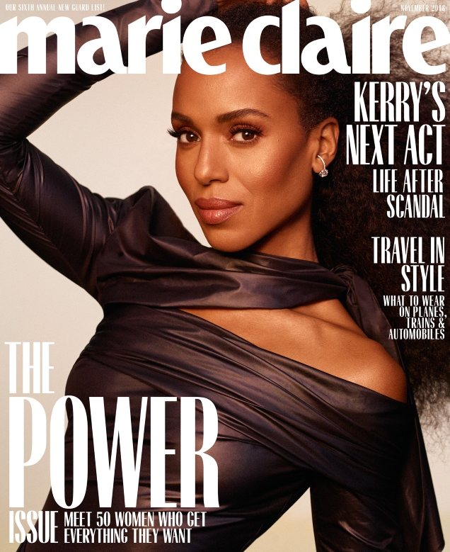 US Marie Claire November 2018 : Kerry Washington by Thomas Whiteside