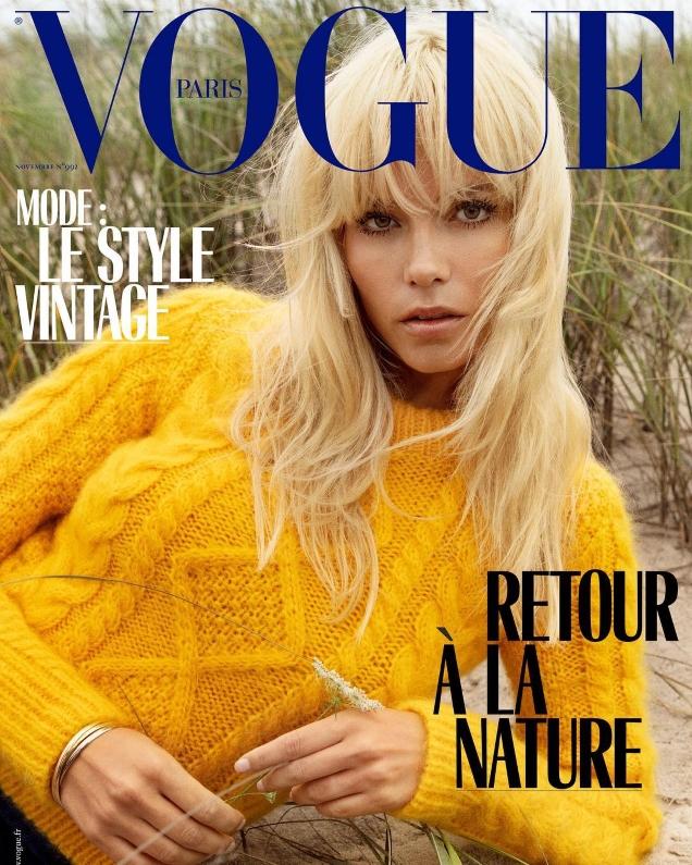 Vogue Paris November 2018 : Natasha Poly by Inez van Lamsweerde & Vinoodh Matadin