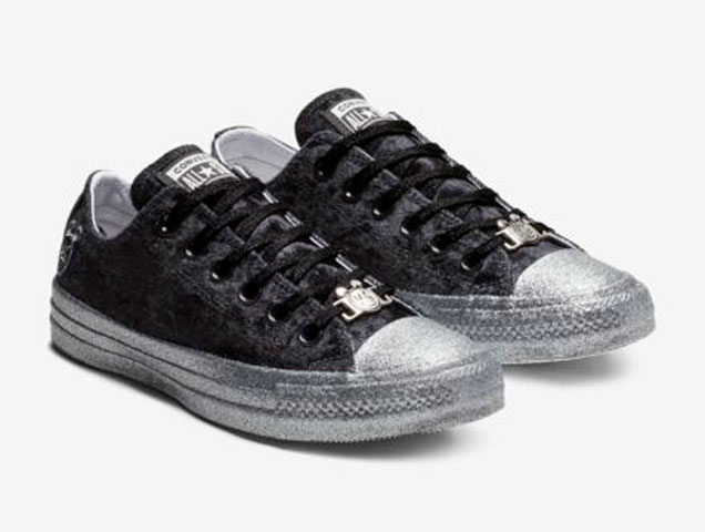 4867d6c33a7 Glitter and Velvet Pieces from Miley Cyrus x Converse Are All We ...