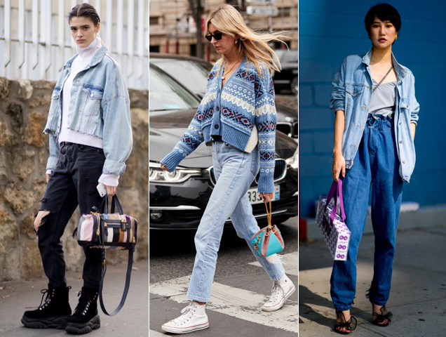 Faded denim done the street style way.