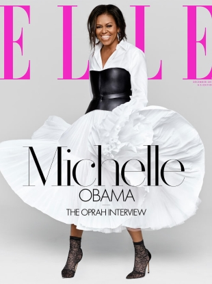 US Elle December 2018 : Michelle Obama by Miller Mobley