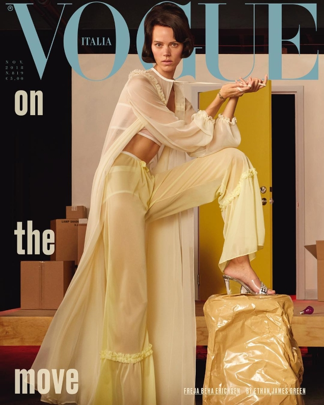 Vogue Italia November 2018 : Freja Beha Erichsen by Ethan James Green