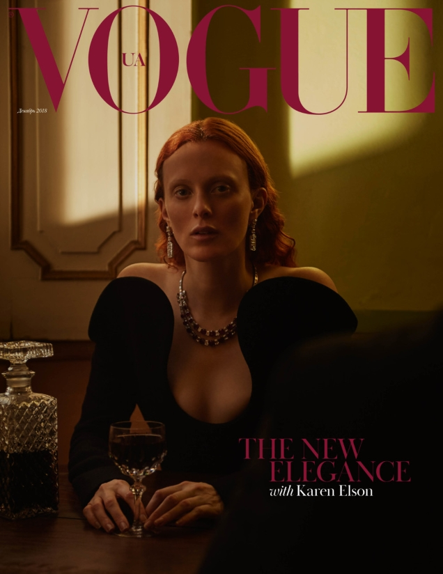 Vogue Ukraine December 2018 : Karen Elson by Patrick Bienert