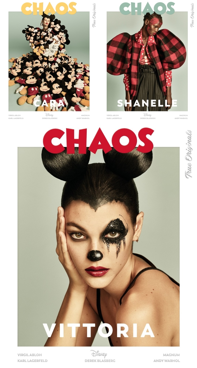 Chaos 'The Disney Issue' 2018 : Bella, Gigi, Karen, Vittoria, Cara & Shanelle by Luigi & Iango