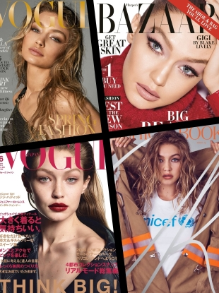 Gigi Hadid Is the Top Cover Model of 2018