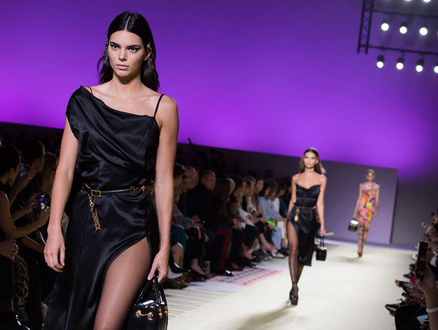 Kendall Jenner walks the Versace Spring 2019 runway