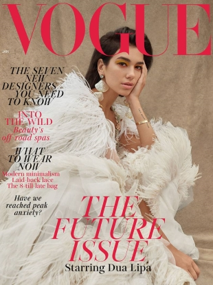 UK Vogue January 2019 : Dua Lipa by Nadine Ijewere