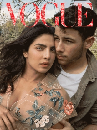 US Vogue 'The Digital Cover' January 2019 : Priyanka Chopra & Nick Jonas by Annie Leibovitz