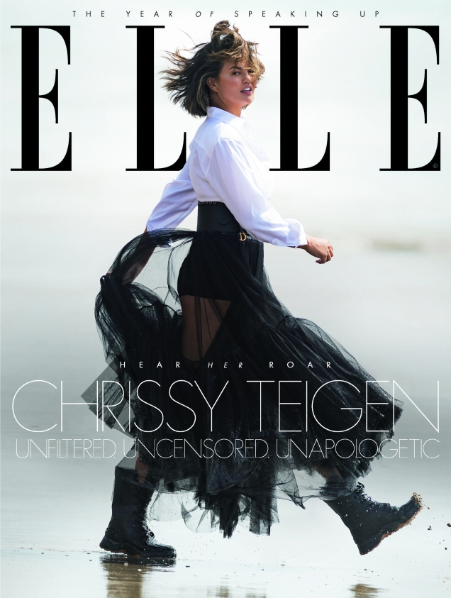 UK Elle January 2019 : Chrissy Teigen by Gilles Bensimon