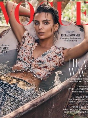 Vogue Australia January 2019 : Emily Ratajkowski by Nicole Bentley