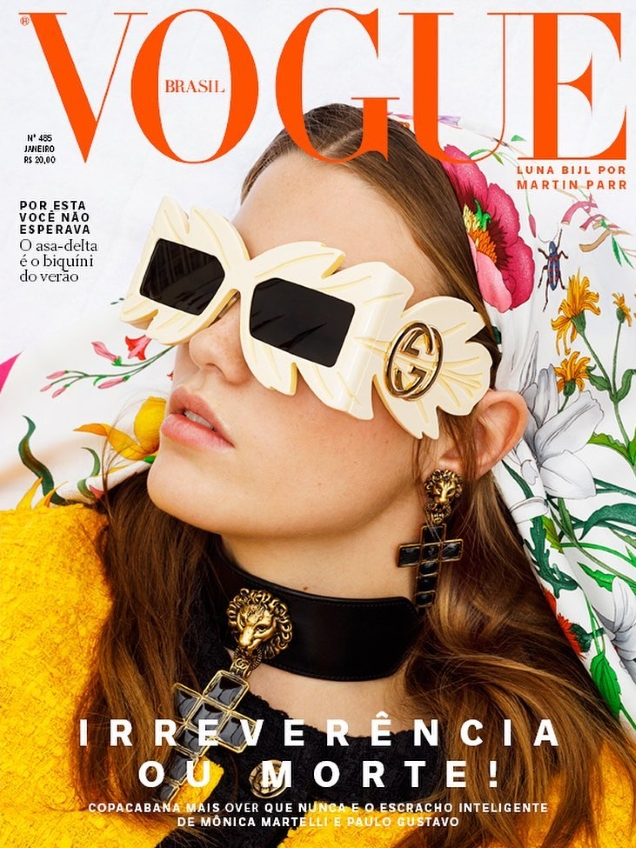 Vogue Brazil January 2019 : Luna Bijl by Martin Parr