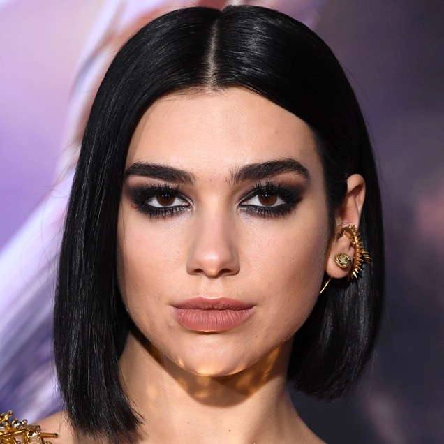 Dua Lipa rocking power brows.