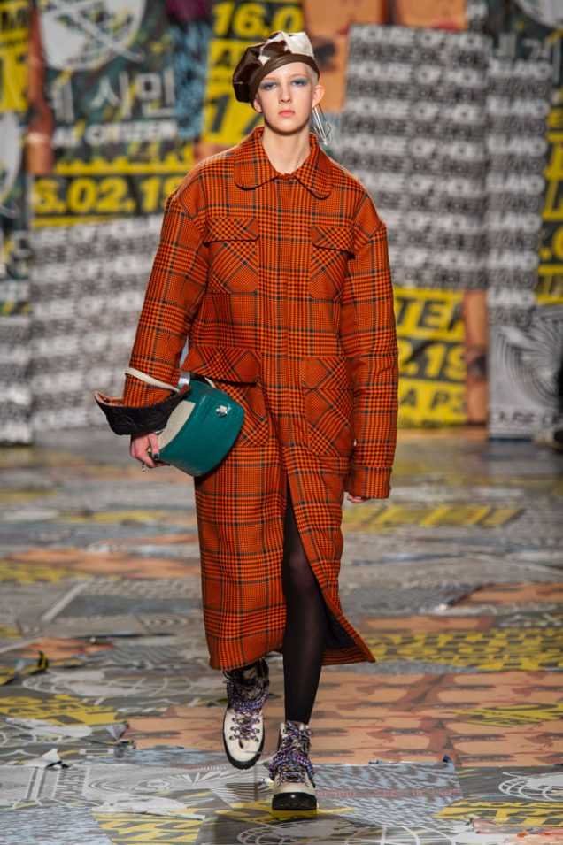 Finn Buchanan opening House of Holland's Fall 2019 show in London.