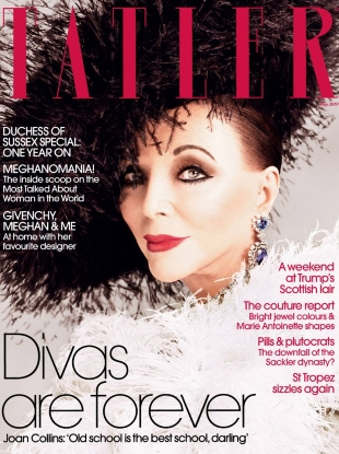 Tatler May 2019 : Joan Collins by Luc Braquet