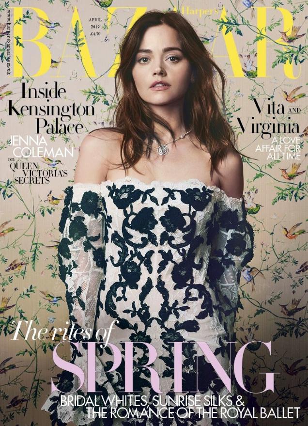 UK Harper's Bazaar April 2019 : Jenna Coleman by David Slijper