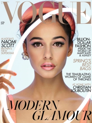 UK Vogue April 2019 : Naomi Scott by Nick Knight