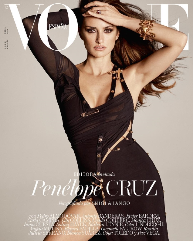 Vogue España April 2019 : Penélope Cruz by Peter Lindbergh & Luigi & Iango