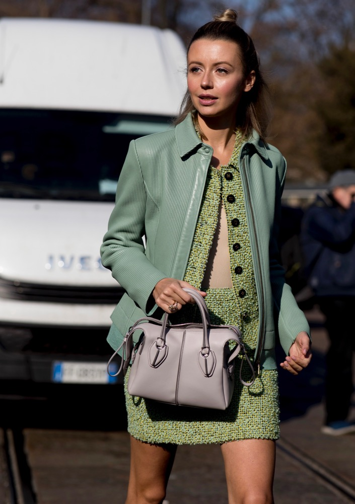 Pistachio green done the street style way.