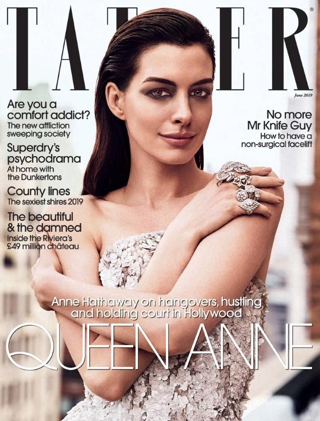 Tatler June 2019 : Anne Hathaway by Jack Waterlot