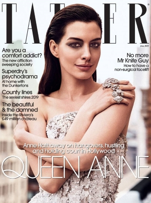 Tatler June 2019 : Anne Hathaway by Jack Waterlot