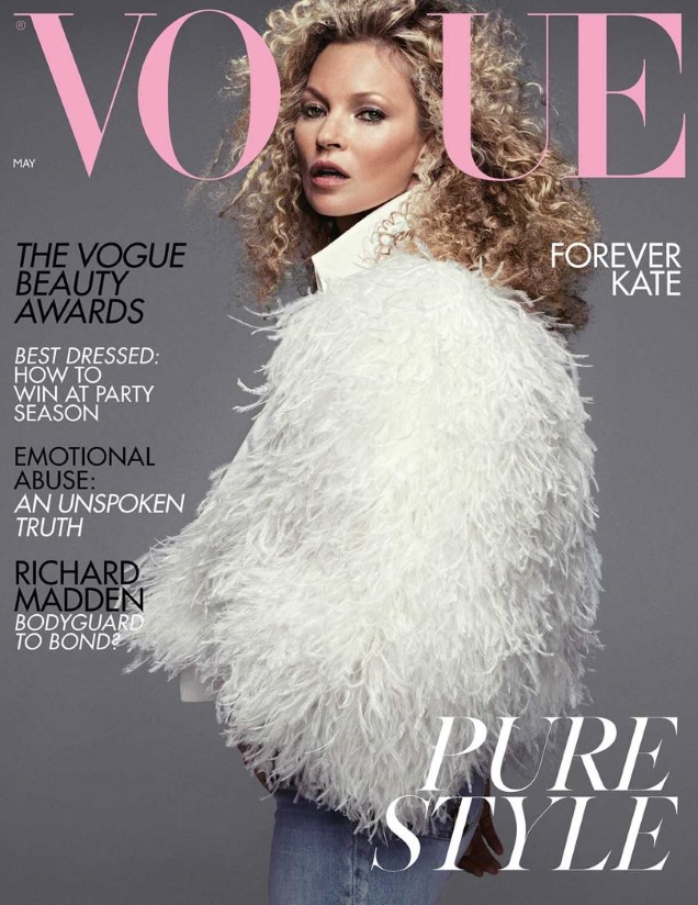 UK Vogue May 2019 : Kate Moss by Jamie Hawkesworth, Mikael Jansson & Inez & Vinoodh