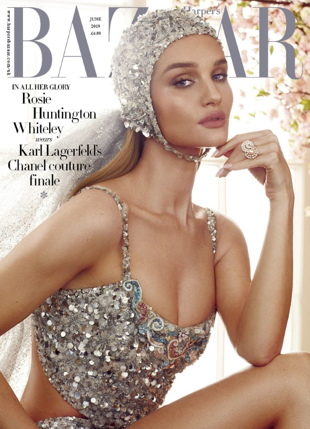 UK Harper's Bazaar June 2019 : Rosie Huntington-Whiteley by Alexi Lubomirski