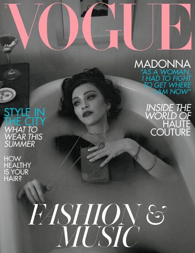 UK Vogue June 2019 : Madonna by Mert Alas & Marcus Piggott