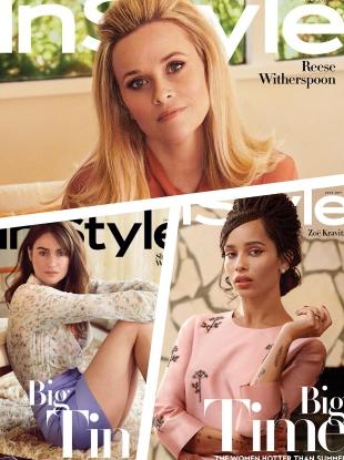 US InStyle June 2019 : The Cast of Big Little Lies by Pamela Hanson