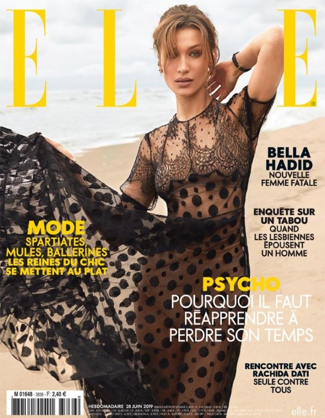 Elle France June 28, 2019 : Bella Hadid by Zoey Grossman