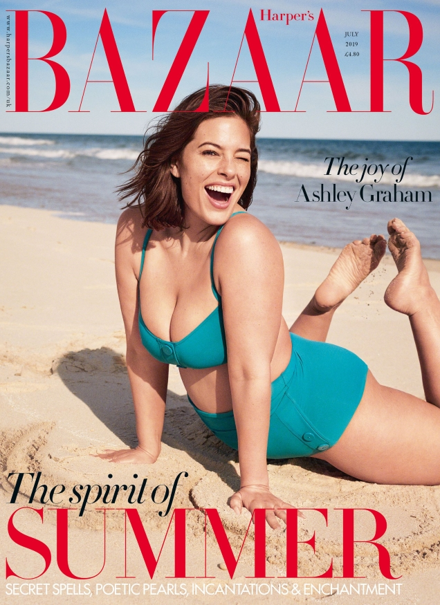 UK Harper's Bazaar July 2019 : Ashley Graham by Pamela Hanson