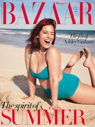 UK Harper's Bazaar July 2019 : Ashley Graham by Pamela Hanson