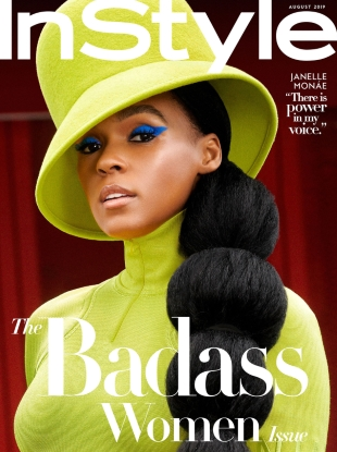 US InStyle August 2019 : Janelle Monae by Pamela Hanson