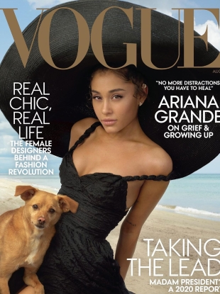US Vogue August 2019 : Ariana Grande by Annie Leibovitz